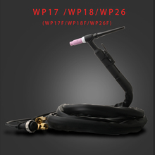 Tig torch WP18 WP26 Air cooled welding torch SR18 SR26 torch tig Water cooled WP18F tig welding torch gun WP26F  4m wp26 wp 26 air cooled argon tig welding torch 4m gas and power whole