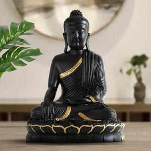 Image 4 - Reçine heykelciği bouddha büyük buda dekor ev dekor buda heykeli ev dekorasyon aksesuarları oturma odası için buda heykelcik
