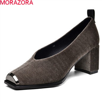 MORAZORA 2020 New arrival fashion women pumps high quality comfortable dress shoes summer shallow square toe ladies shoes