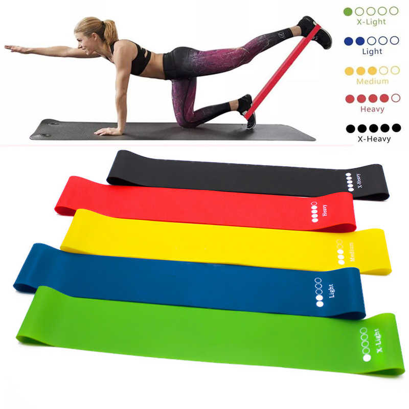 Yoga Band Resistance Tube Workout Exercise Heavy Elastic Bands Fitness Equipment