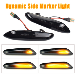 For BMW E60 E90 E91 E81 E83 E88 E92 E82 E46 Dynamic Repeater Side Marker Mirror Indicator Blinker Flowing LED Turn Signal Light