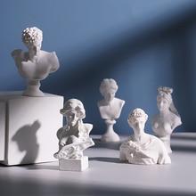 Miniature Figurines Statue Bust-Decoration Sketch-Head Gypsum Drawing Resin-Art Home-Decor