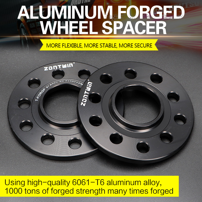 2/4PCS 3/5/8/10mm Wheel Spacer Adapter PCD 5x112 CB 66.5mm 5Lug Suit For Benz Audi Universal Car M14xP1.5