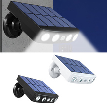 Street-Lamp Wall-Light Pir-Motion-Sensor Led Garden-Path Outdoor Solar