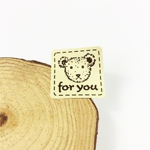 160pcs/lot Square Yellow Bottom Bear Head For You Seal Sticker Cake Packaging Sealing Label