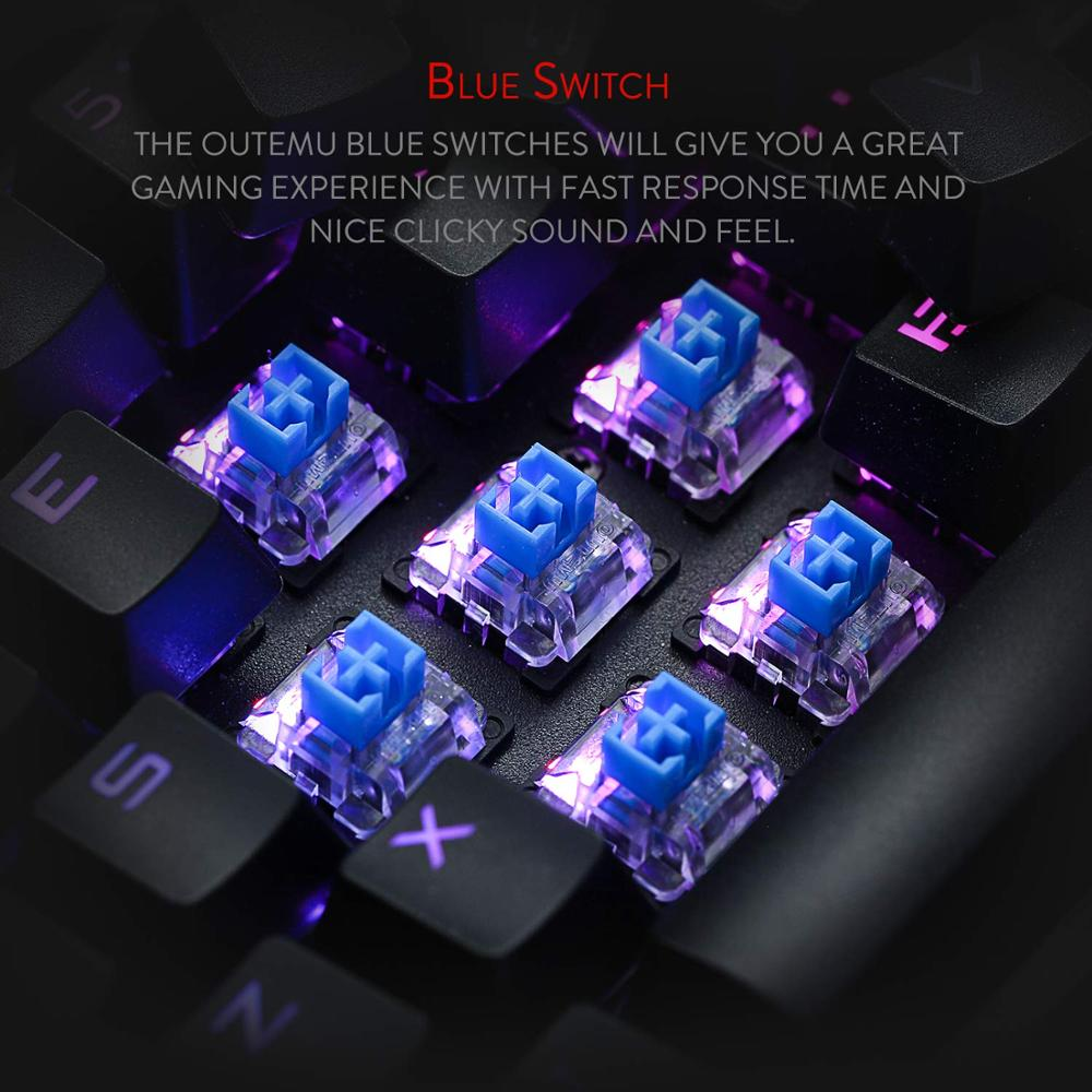 Image 5 - Механическая игровая клавиатура Redragon K580 VATA, RGB светодиодный с подсветкой 104 клавиши, анти ореолы, макроклавиши, синие переключатели для DOTA 2 геймеровКлавиатуры    АлиЭкспресс