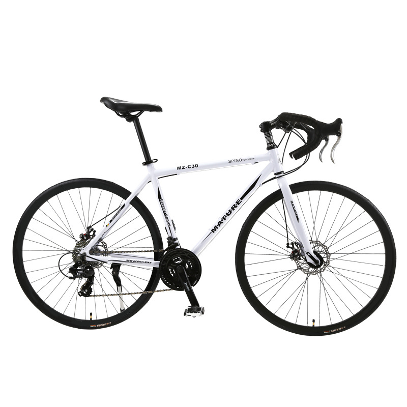 Aluminum Alloy Road Bicycle Racing Car 30/33 Speed Bend, Double Disc Brake, 700C Speed Change Student Bicycle