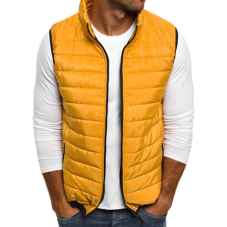 Zogaa Rompi Pria Kasual Hangat Pakaian Luar Musim Gugur Jaket Rompi Mantel Tanpa Lengan Rompi Jaket Jaket Mantel Pakaian Pria