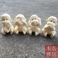 Elfenbein Obst Carving Nette Affe Kreative Handwerk Vereinbarungen-in Statuen & Skulpturen aus Heim und Garten bei