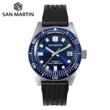 San Martin 62mas Diver Watch Sapphire NH35 Automatic Men Mechanical