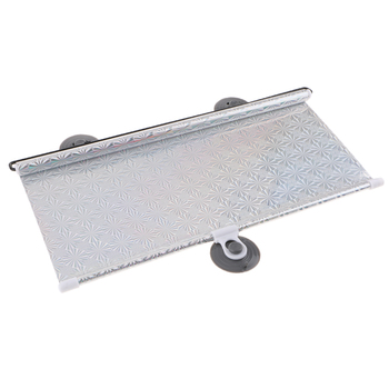 Universal Car Window Shade Roller Retractable Sun Shade Silver 40x60cm image