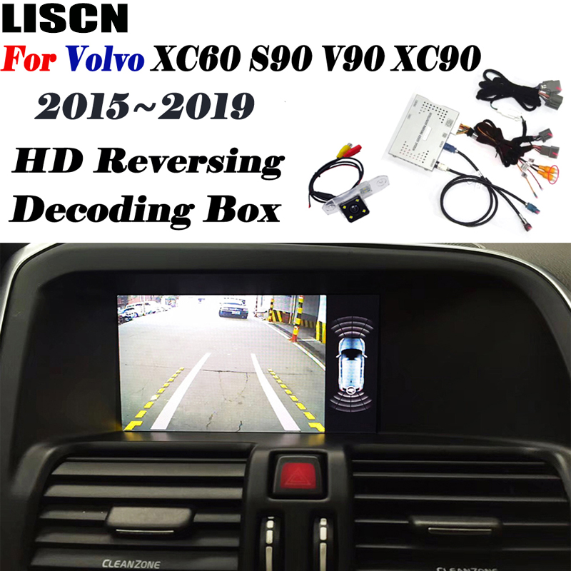 Reversing camera For <font><b>Volvo</b></font> <font><b>XC60</b></font> 2015 <font><b>2016</b></font> 2017 2018 2019 Backup Camera Original screen Interface adapter Update Parking camera image