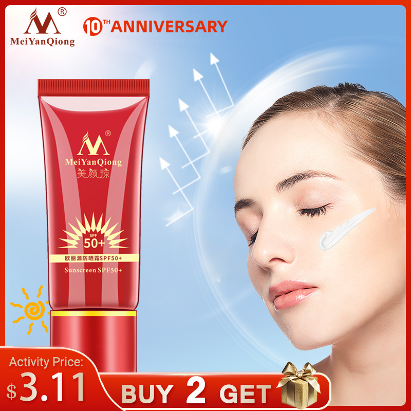 MeiYanQiong Sunscreen SPF50+ Whitening Repair Sunblock Skin Protective Cream Anti-sensitive Oil-control Moisturizing Isolation