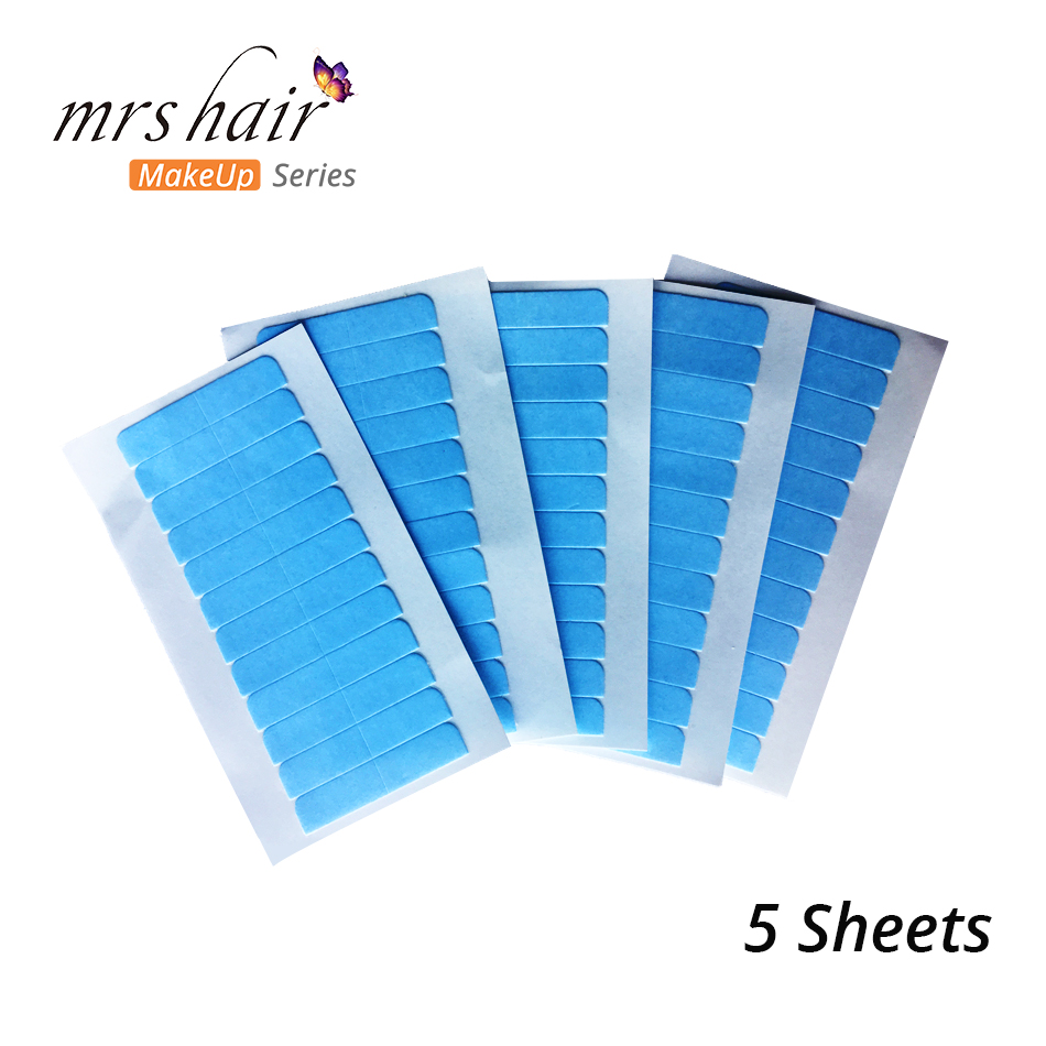 5pcs Replacement Tape For Tape In Hair Extensions Super Adhesives Blue Tape Tabs Strips Double Side Lace Front Support Tape