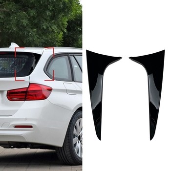 2Pcs Gloss Black Rear Window Side Wing Roof Spoiler Splitter Stickers for BMW 3 Series F31 2012-2018 Exterior Refit Kit carbon fiber rear trunk wings m4 spoiler for bmw 4 series f36 420i 428i 435i gran coupe 4 door 2013 gloss black spoiler wing
