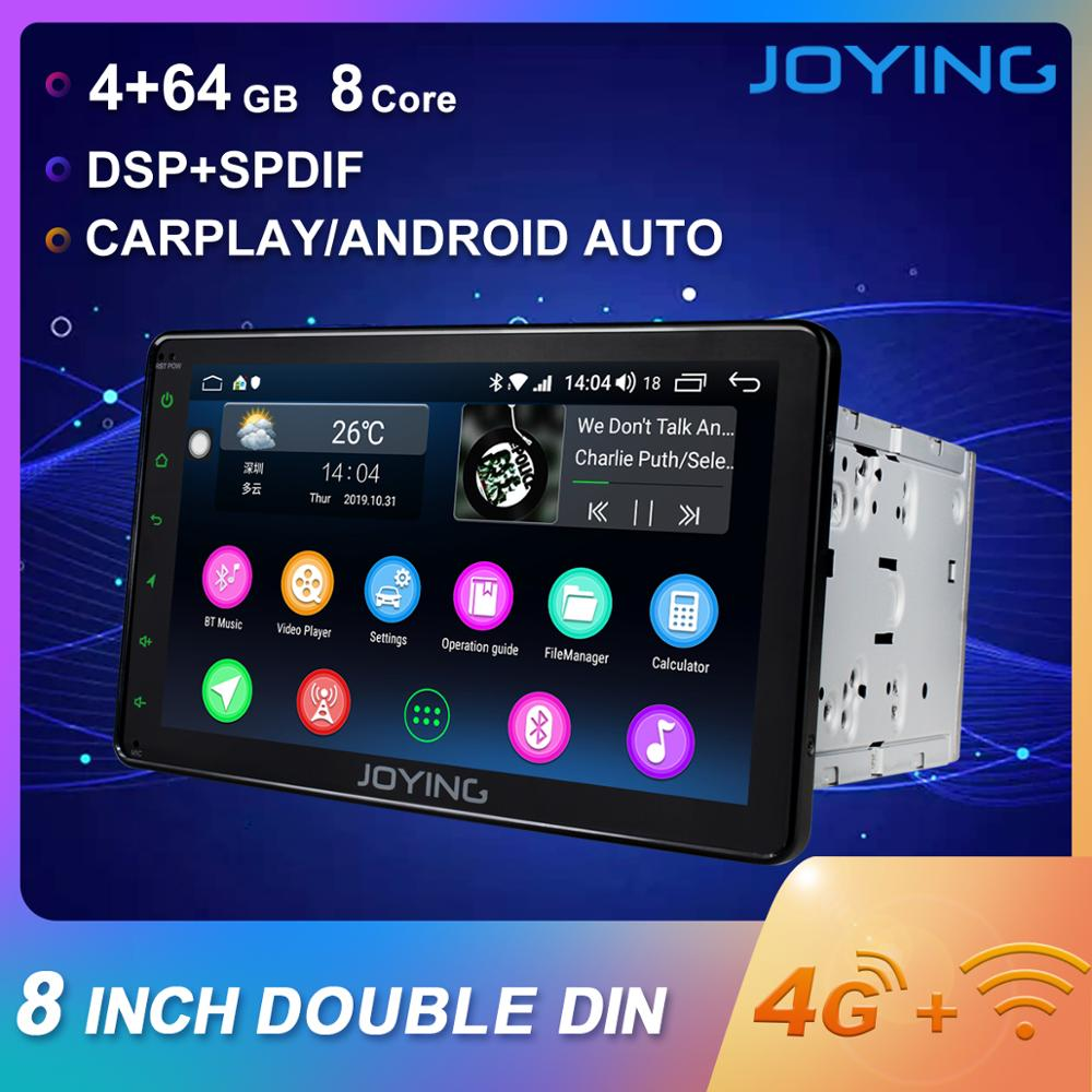 "JOYING 2 din car radio Android 8.1 Octa Core built in 4G& DSP 4GB +64GB GPS universal 8""head unit support wireless Carplay audioCar Multimedia Player   -"
