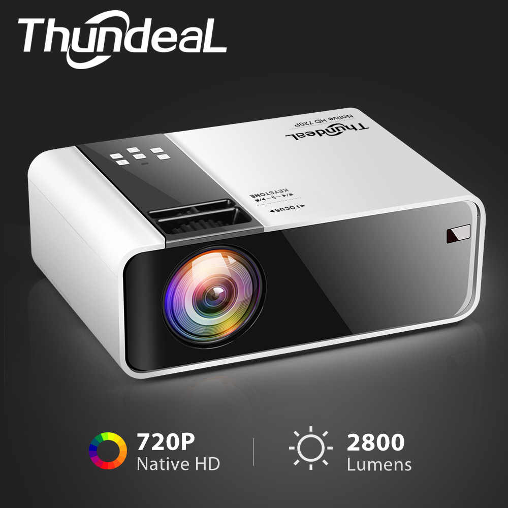 Thundeal HD Mini Proyektor TD90 Asli 1280X720 P LED Android WIFI Proyektor Video Home Cinema 3D HDMI Film permainan Projector
