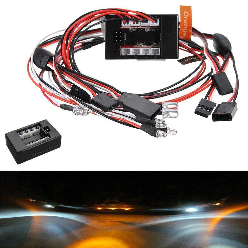 LED Light Kit Set Brake Turn Signal Simulator For 2.4G 1/10 RC Car Parts Accessories
