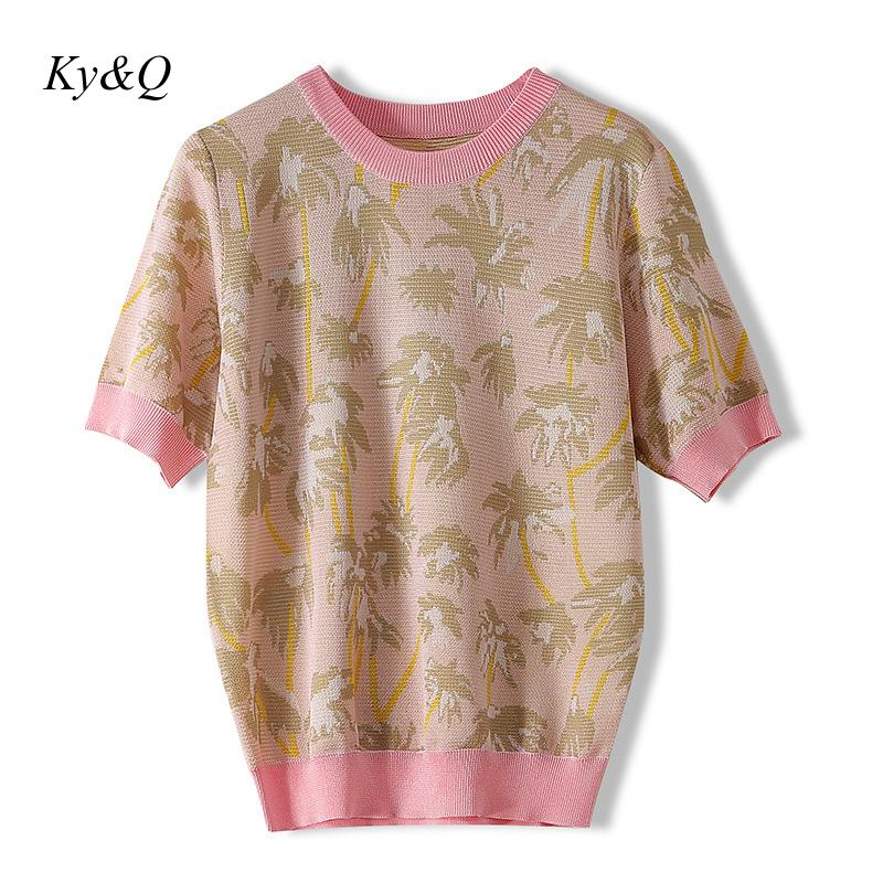 Brand Design 2020 New Small Daisy Embroidery Pullover O-neck Short Sleeve Women Spring Fashion Knit Sweater Vintage Clothes
