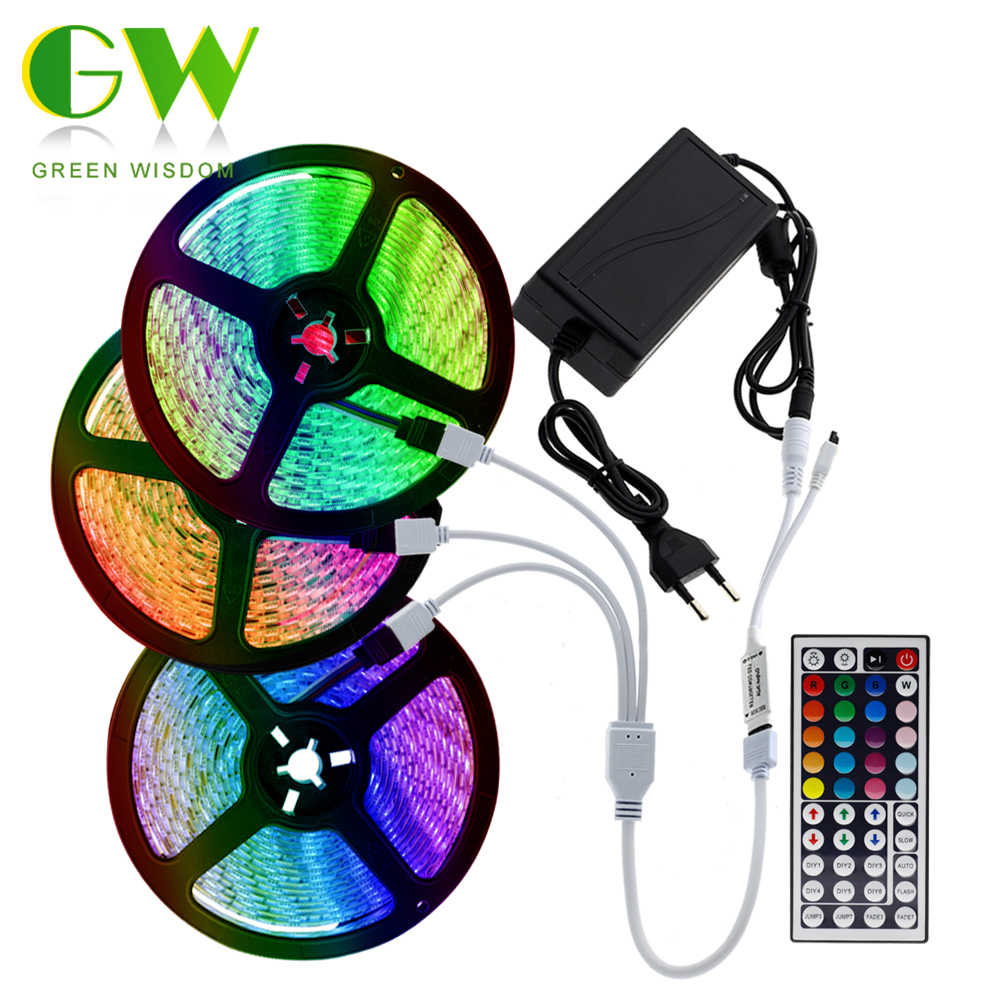 LED Streifen Licht RGB SMD 5050/2835 Flexible Neon Band 12V 5m 10m 15m Wasserdicht Tira LED licht Streifen RGB Diode Band + Controller