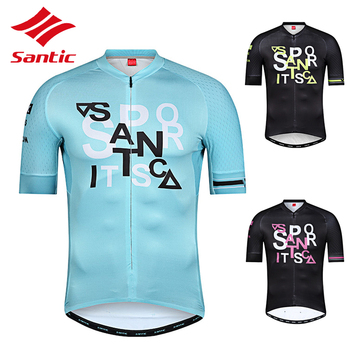 Santic Cycling Short Sleeved Jersey Unisex Bike Jerseys Professional Race Clothing Men Women Breathable Quick Dry Bicycle Shirt