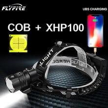 2020 Novo cob xhp100 poderoso farol LED lanterna de cabeça lanterna farol lanterna 18650 bateria recarregável caça xhp90 xhp70