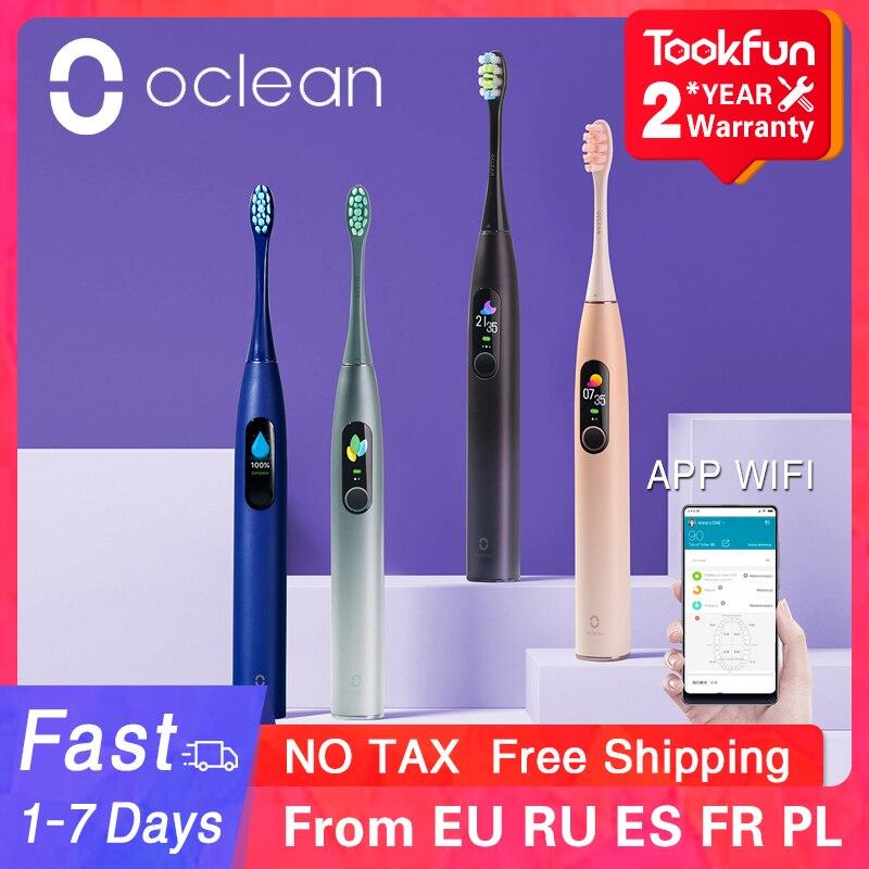 Oclean X Pro Sonic brosse à dents électrique blanchiment des dents vibrateur sans fil Charge 40 jours fonctionne application intelligente Ultra sonique vérifier les dents