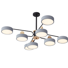 Nordic creative lamp personality Macaron LED chandelier modern minimalist home living room bedroom room lighting