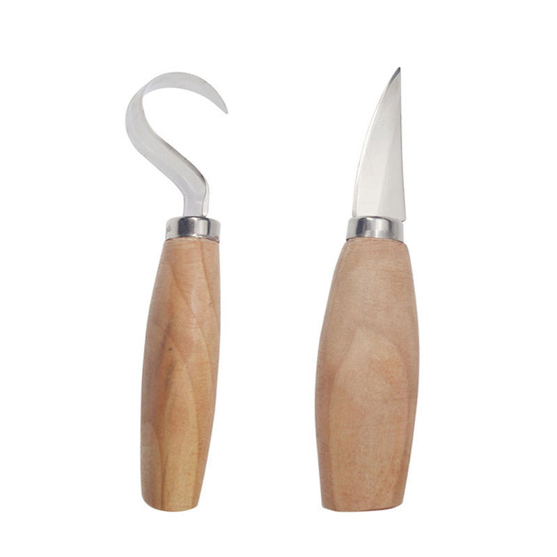 2X Steel Wood Carving Cutter Woodworking Spoon Carving Knife Tools Kit