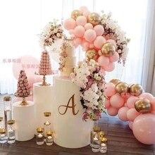 Круглый стол для торта, белый Железный Plinth, вечерние, свадебные