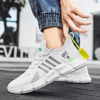 2020 New Fashion Sneakers Men's Running Shoes Lace Up Ultralight sports high top socks shoes trendy shoes Zapatillas De Hombre