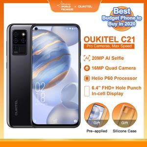 OUKITEL C21 20MP Selfie 6.4'' FHD Hole Punch Screen Helio P60 4000mAh Octa Core 4G 64G Quad Camera Celular SmartPhone PK XIAO