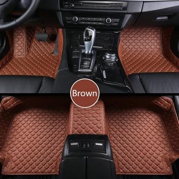 ZRCGL Custom Car floor mat for Hyundai santa fe ix25 solaris ix35 accent elantra veloster Genesis Veracruz tucson i30 sonata