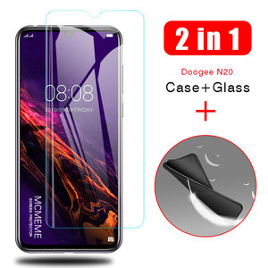 2-in-1 Case + Glass For Doogee N20 Screen Protector Lens Glass On Doogee N20 N 20 protective Glass cover cases(China)