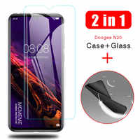 2-in-1 Case + Glass For Doogee N20 Screen Protector Lens Glass On Doogee N20 N 20 protective Glass cover cases