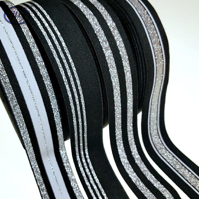 HL 40MM 1 Meter/4 Meter Heißer Stanzen Nylon Elastische Bands DIY Gurtband Bekleidung Taschen Leggings Nähen Zubehör