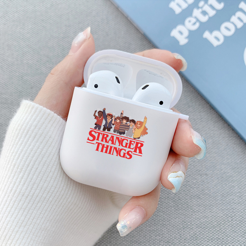 Strange Things Soft Silicone Cover For Airpods 2 Case Cute Earphone Case Soft Clear Headphone case For Accessories Air Pods 2 1(China)