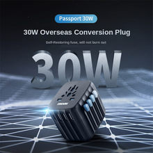 Zendure Passport 30W Power Delivery Auto-Resetting Fuse Travel Plug Worldwide Conversion Socket Conversion Plug Travel Adapter