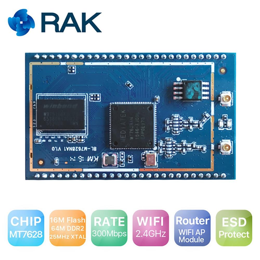 AP Wouter Module MT7628 Chip 2.4G WIFI Module Support OpenWRT ESD Protect For OSHW Developer Open Source Hardware RAK633 Q121