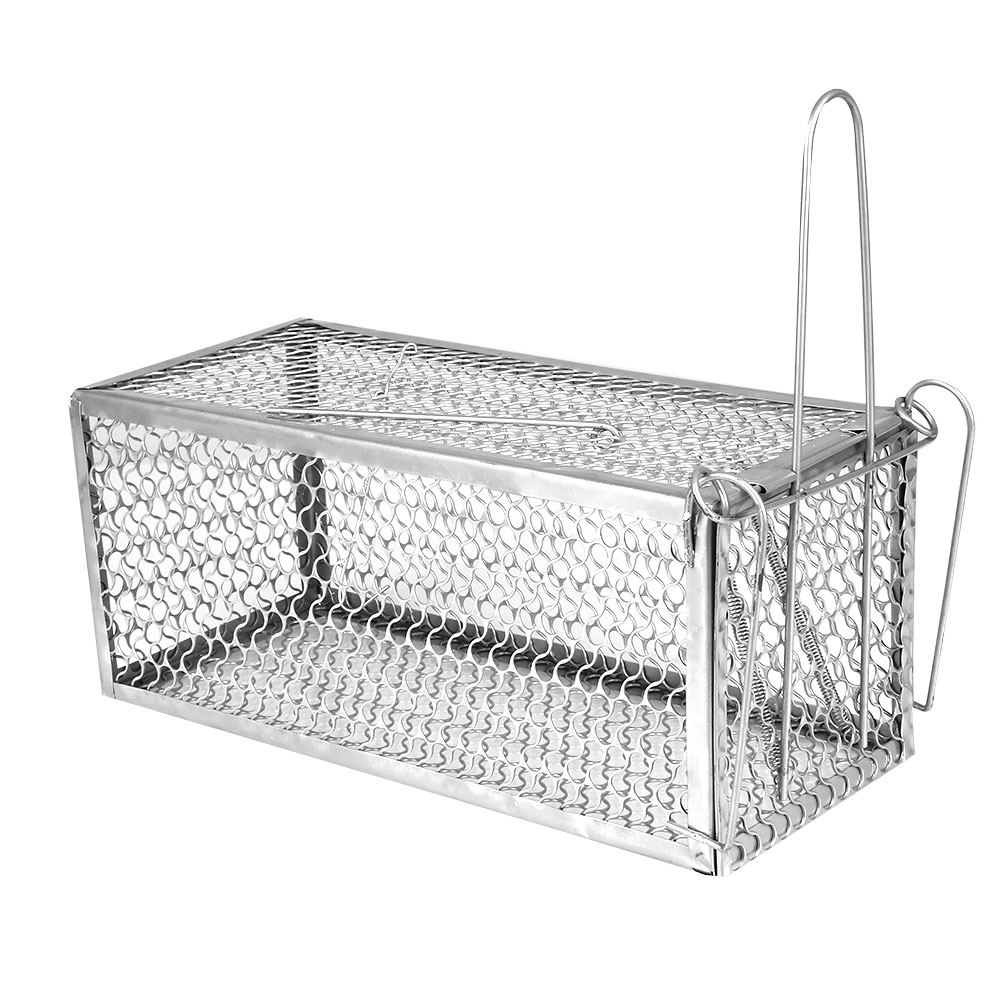 1pcs 30X12X24cm Steel Cage Animal Trap Control Catch Mouse Hamster High Sensitivity Rat Squirrel Metal Mice Garden Pest Control
