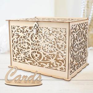OurWarm Wedding Card Box Creative Money Box Wedding Decoration Paper Gift Boxes Storage Money Baby Shower Birthday Party Favor