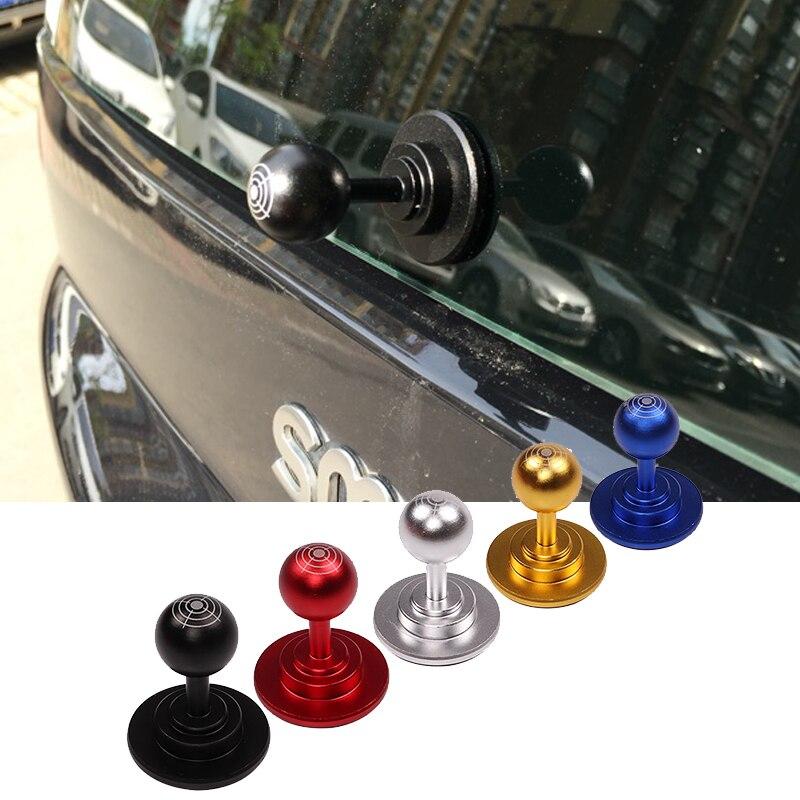 Car Styling Aluminum Trunk Door Handle Decorative Car Sticker For Mercedes Smart fortwo 451 Trunk Trim Modification