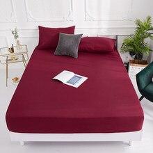 (Profundidade alta) colchão de cama de 100% poliéster 1 peça, conjunto com quatro corredores e faixa elástica, fronhas para venda quente, necessidade de pedido