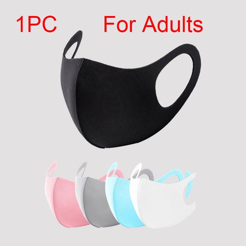 Men Women Sponge Mouth Mask Washable Dustproof Reusable Anti-Pollen Non-disposable Breathable Protective Face Mask Anti-PM2.5