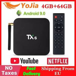4GB RAM 64GB ROM TX6 Mini Smart TV Box Android 9.0 Allwinner H6 2GB 4K TX6 zestaw odtwarzacza multimedialnego Top Box 2.4G/5GHz Dual WiFi BT4.1