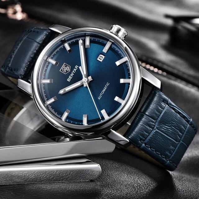 2020 New BENYAR Men's Mechanical Watches Automatic Mens watches Top Brand Luxury watch men WristWatch Military Relogio Masculino 4