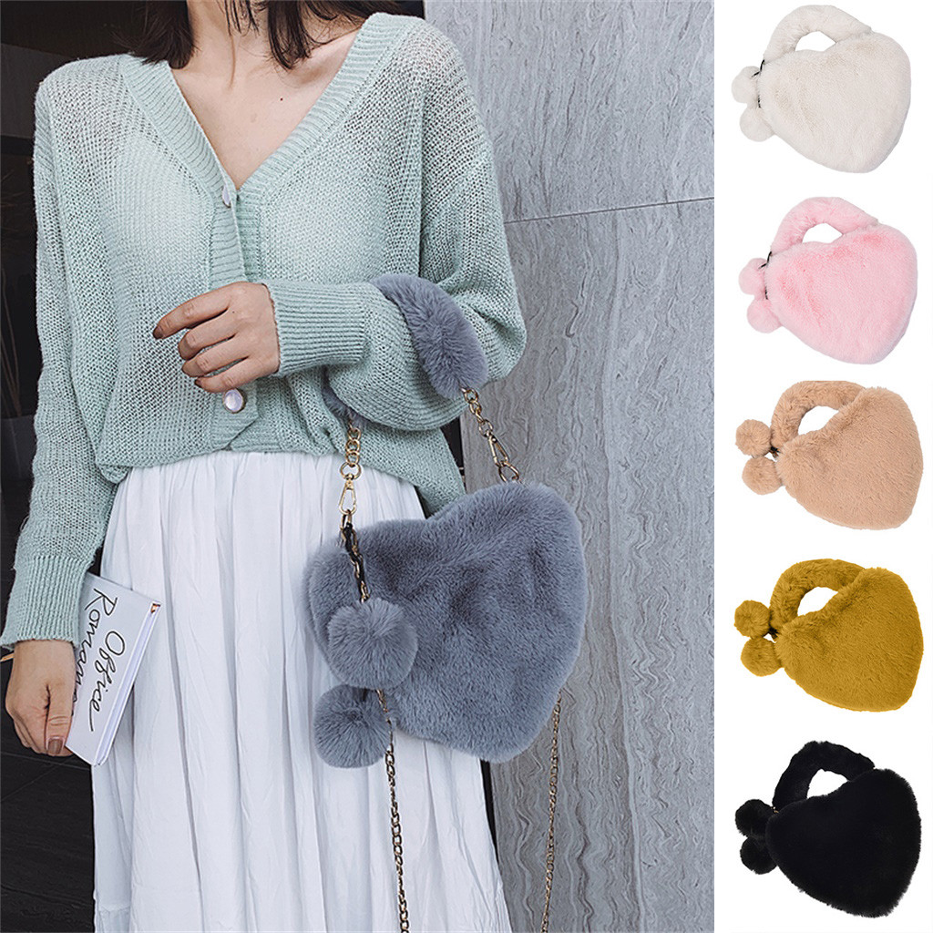 H44f228ad39b34273bb55df1f4827ca8dj - Fashion Women Handbags | Cute Fluffy Fur