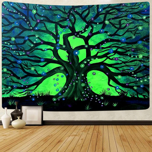 Simsant Colorful Tree of Life Tapestry Psychedelic Forest Hippie Art Wall Hanging Tapestries for Living Room Bedroom Home Decor