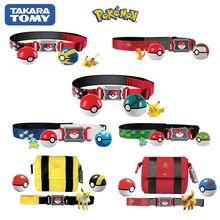 Takara tomy pokemon ir jogo charizard pikachu estatueta pokemon clipe n ir levar poke bola cinto conjunto pvc figura de ação brinquedos anime