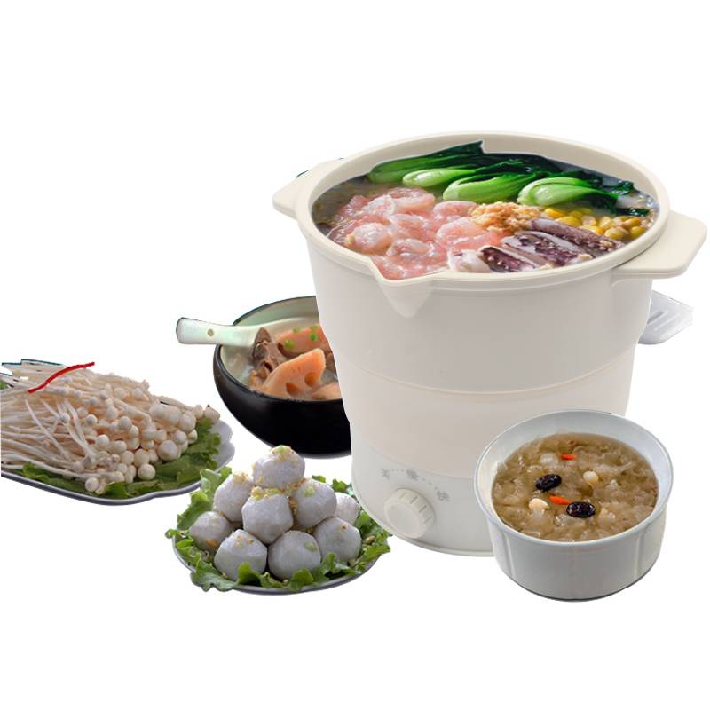 Folding Silicone Hotpot Electric Multifunction Cooker Heating Kettle Water Boiler Stew Soup Noodle Pot
